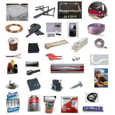 Liste de matériel d'installation