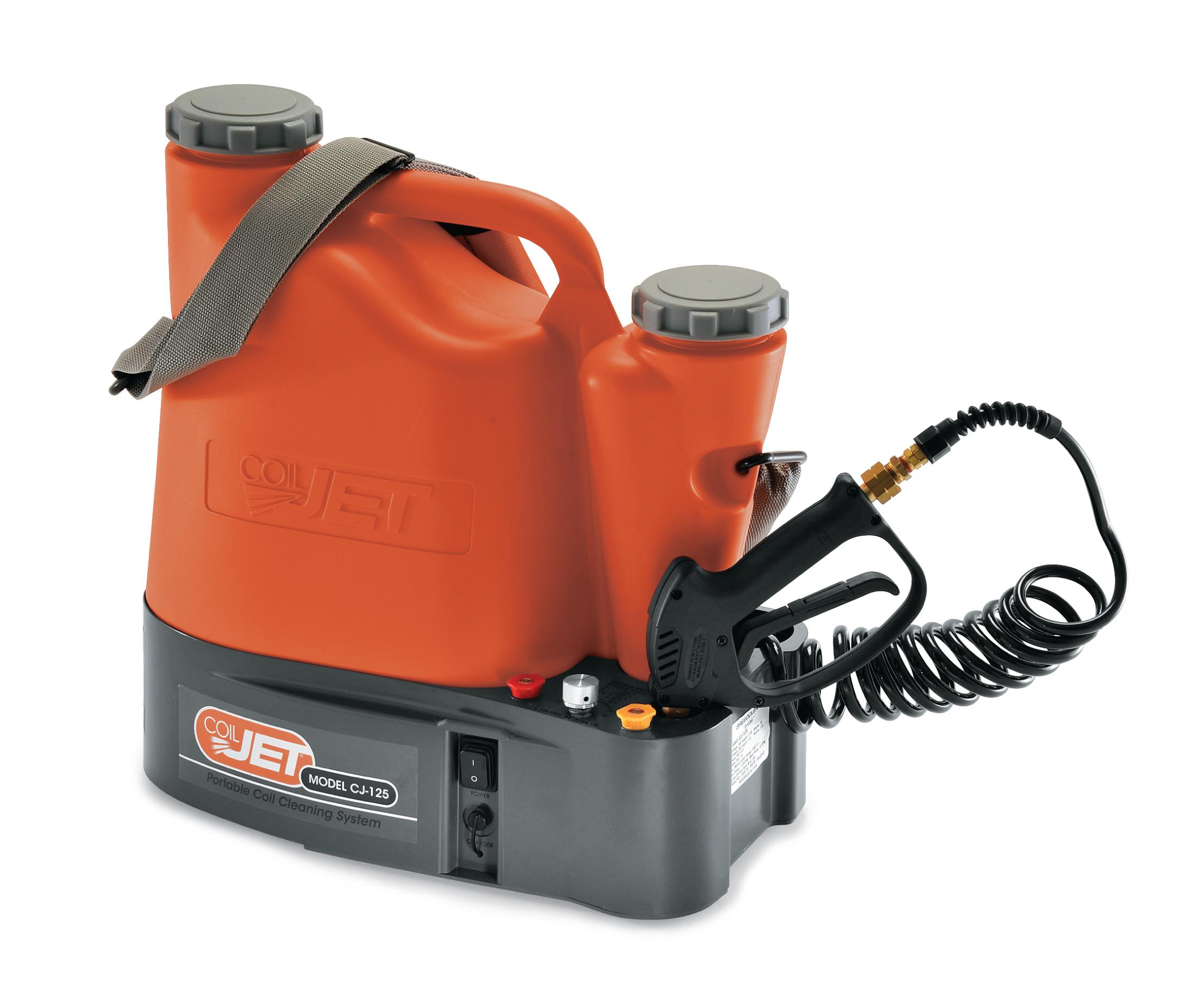 Système portatif pour le nettoyage des serpentins. «CoilJet» modèle CJ125-200E